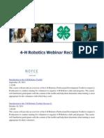 4-H Robotics Webinars