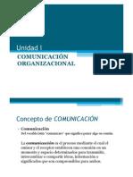 Unidad I COMUNICACIÓN ORGANIZACIONAL