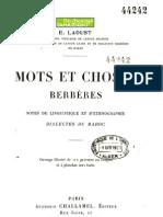 Mots et choses berbères - Émile Laoust