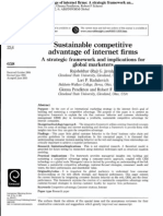 Sustainable Competitive Advantage of Internet Firms - A Strategic Framework and Implications for Global Marketers