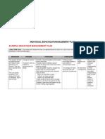 individual behaviour management plan-example