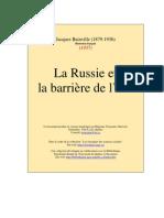 Jacques Bainville, La Russie et la barrière de l'Est