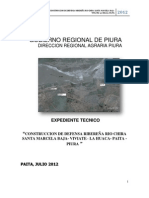 DEFENSAS RIBEREÑAS RIO CHIRA SECTOR SANTA MARCELA PIURA PERU