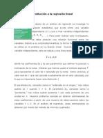 Introduccion a La Regresion Lineal