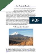 Geografia Urbana - Volcanes Del Ecuador