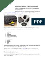 Acoustic Foam and Sound Insulation Solutions - Foam Techniques Ltd