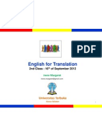 English for Translation Class2 Module2&3 (20120916)