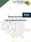 FédéO - Coût de Rentrée 2012