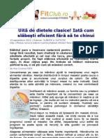 Uită de dietele clasice! Iată cum slăbeşti eficient fără să te chinui | FitClub.ro