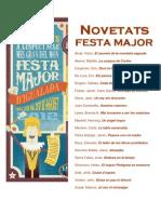 Novetats Festa Major 2012