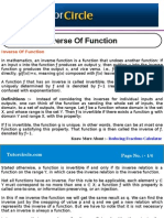 Inverse of Function