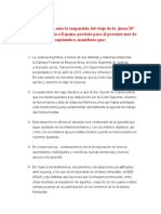 Nota de Prensa de La Red Aqua sobre el aplazamiento de la visita de juez argentina Maria Servini