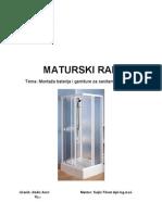 Montaza Baterije i Garnitura Za Sanitarne Elemente