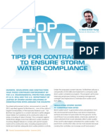 Top Five Tips for Contractors to Ensure Storm Water Compliance