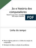 Evolução e história dos Computadores