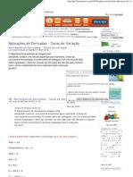 Aplicações de Derivadas - Taxas de Variação
