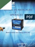 Multimedidor trifásico de energia - RENZ (Manual MTE 92)