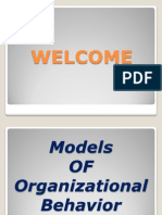 A Project on Models of Organizational Behavior