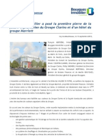 Bouygues Immobilier a posé la première pierre de la future implantation du Groupe Clarins et d'un hôtel du groupe Marriott
