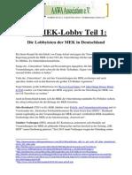 Die MEK-Lobby Teil 1 - Die Lobbyisten Der MEK in Deutschland