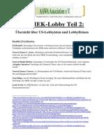 Die MEK-Lobby Teil 2 - Übersicht über US-Lobbyisten und Lobbyfirmen der MEK
