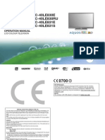 Sharp LC40-46LE830E Manual