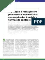 Exposição à radiação em processos a arco elétrico