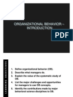 Introduction - Organizational Behaviour