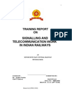 project report on signalling in indian railways