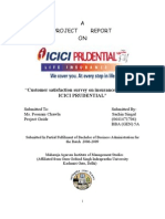 13900740 Customer Satisfaction Survey on Insurance Products of ICICI Prudential