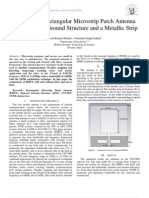 Multi-Band Rectangular Microstrip Patch Antenna with Defected Ground Structure and a Metallic Strip