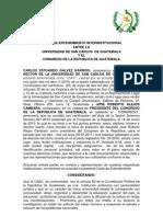 CARTA DE ENTENDIMIENTO INTERINSTITUCIONAL ENTRE LA USAC Y EL CONGRESO DE LA REPUBLICA DE GUATEMALA