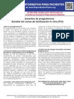 Uso de la progesterona (Información para pacientes)