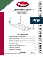 Rotary Aro14 - Smo14 Owners Manual