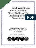 Dietary Guidelines Sleeve Gastrectomy