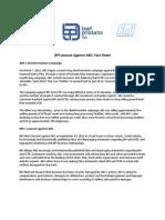 BPI Lawsuit Against ABC Fact Sheet
