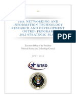 The Networking and Information Technology Research and Development (NITRD) Program 2012 Strategic Plan