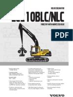 EC210B Forestry Spec Sheet