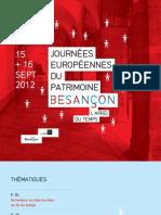 Programme complet Journée du patrimoine 2012 à Besancon
