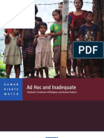 Thailand's Treatment of Refugees and Asylum Seekers-HRW Report -english