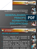 Generalidades y Principios Normativos Discapacidad