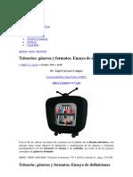 Teleseries Generos y Formatos Ensayo de Definiciones