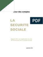 Rapport Securite Sociale 2012 Cour des comptes