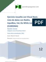 CU00346A Ejercicio Resuelto Visual Basic Lista Redim Inputbox Val Do While Loop