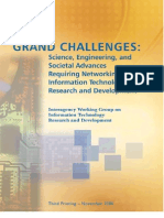 Grand Challenges - Science, Engineering, And Societal Advances, Requiring Networking and Information Technology Research and Development