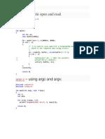 מערכות הפעלה- דוגמאות קוד