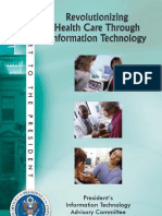 PITAC Report - Revolutionizing Healthcare Through Information Technology
