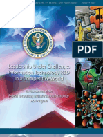 PCAST Report - Leadership Under Challenge - Information Technology R&D in a Competitive World