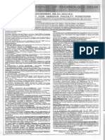 Notification IIT Delhi Faculty Post English