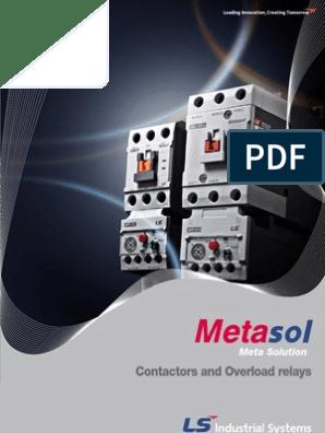 LS Industries Metasol MC-12b 3p 440V 12A Contactor 24V Coil